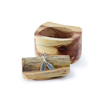 Crossed Paddles Driftwood Box