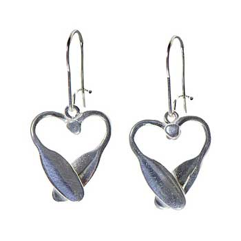 Canoe Paddle Heart Earrings