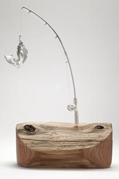 Fishing Rod Driftwood Box