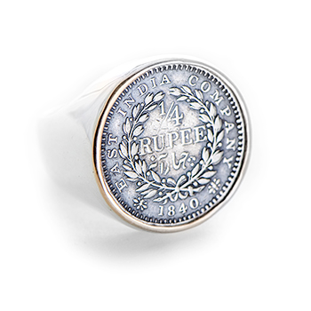 1/4 Rupee Coin Ring